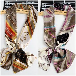 NEW 2 x Scarf Headscarf Neck Wide Bag purse wrap